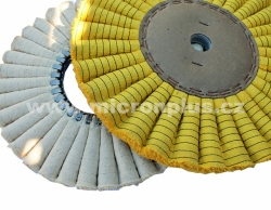 Sisal wavy, solid - impregnation yellow 400x30x35